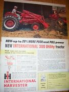 Vintage Farmall International Advertising -300 Utility Tractor And Loader
