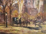 Central Park New York Oil Painting By Robert Lebron