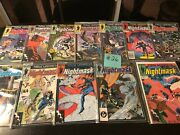 Marvel Comics New Universe Nightmask 1 And Up Large Comic Book Lot