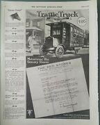 1920 Traffic Motor Truck Corporation Motorizing Red Grocery Stores Vintage Ad