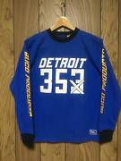 The Real Mccoyand039s Buco T-shirt Detroit 353 Blue Cotton Size 40 Used From Japan