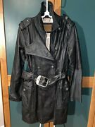 Pepe Jeans Posh Black Leather Timeless Coat Jacket Musthave Archive Design