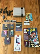 Original Nes Nintendo System Console + New 72 Pin Authentic And Tmnt Barbie Games