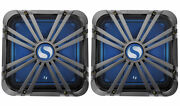 2 Kicker 11l712glc 12 Charcoal Grilles W/leds For Solobaric 11s12l7 Subwoofers