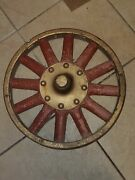 Collector Wood Spoke Circus Wagon Wheel Makes A Great Wall Decoration