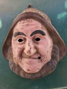 Cast Iron Dwarf / Gnome Face Wall Garden Home Country Decor Rustic