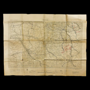 Wwi Sgt Bertolette 108th Field Artillery Troyes Annotated Aef Troop Movement Map