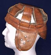 Antique Circa 1910 8 Spoke Football Head Harness Early Leather Helmet Prob Reach