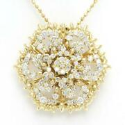 Jewelry 18k Yellow Gold Necklace Brooch Diamond About20.2g Free Shipping Used
