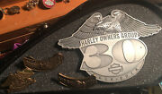 Harley Davidson 1-30 Years Officers Plaque 1 Members ,1-2006,and 1-25year Pin