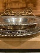 Wm. Rogers Silverplate 12 Pierced/reticulated Band Serving Bowl 835 + Tray 821