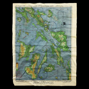 Wwii Battle Of Leyte Gulf Army Air Force Pilot Bomber Crew Silk Bail Out Map