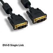 25ft Dvi-d 18+1 Video Cable 24awg Digital Single Link Goldplated Connector Tv Pc