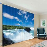 Cool Water Conservancy Project Printing 3d Blockout Curtains Fabric Window