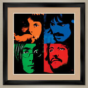 35wx 35h The Beatles By Gunter Edlinger - Double Matte Glass And Frame