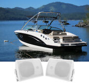 Pair Rockville Hp5s 5.25 Marine Box Speakers With Swivel Bracket For Boats