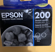 Epson 200 Black Ink Cartridge 2-pack Dura-brite Ultra Exp 01/22