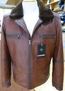 New Menand039s Lamb Nappa Real Leather Jacket With Velvet Mink Inner Lining Real Mink