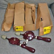 2 Vintage Nos Stanley 611a New Britain Hand Drill Egg Beater 03-611