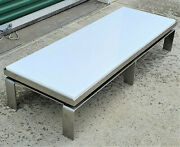 Modern Martin Brattrud One Collection Chrome Base White Marble Top Coffeetable