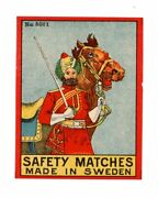 Adv Matchbox Label, Indian Image No.5001, Safety Matches, Made In Sweden