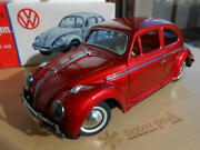 Bandai Bc Tinplate Car Volkswagen Beetle Red With Box Made In Japan Novelty