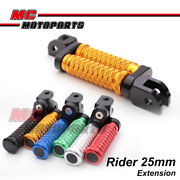 Cnc Front 25mm Extended Foot Pegs Pole For Kawasaki Gpx 600 R 85-92 86 87 88 89