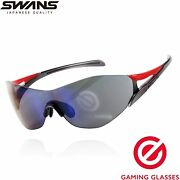 Swans Gaming Glasses Blue Light Cutting Rate 87 Gray Lens Elecom New Japan