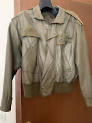 Giacca In Pelle Claude Montana Vintage Anni 80 Brown Leather Coat. Perfetta