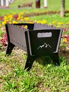 Personalized Charcoal Grill Portable Collapsible Barbecue Bbq Camping Fire Pit