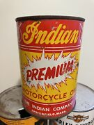 Vintage Original 1930-40andrsquos Indian Motorcycle Qt Can Oil Full Springfield Mass