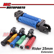 Cnc Front 25mm Extended Foot Pegs Pole For Yamaha Xj6 Diversion F 09-16 10 11 12