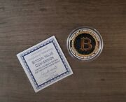 Bitcoin Coin Limited Colorized Edition Authentic One Troy Ounce Silver 23-2000