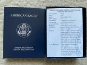 2000 P Silver 1oz American Eagle 1 Silver Proof With Us Mint Box And Cert