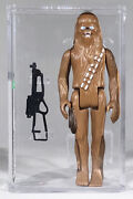 Chewbacca-eur./lt. Eyes And Pouch-1977 Pbp Star Wars-no Coo-afa Grade 75- Archival
