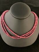 16 Ruby Beaded Necklace 6.0 Carat Weight