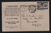 Canada 1899 2c Map Stamp Advertising Private Postcard Montreal Flag To Belgium