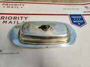 Vintage - Oneida Silversmiths Silver Plated Butter Dish 9 X 4 X 3