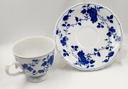 Vintage Royal Meissen Cup And Saucer Set Of 7 White And Blue Flowersfine China Euc