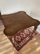 Great Italian Neo-classical Inlaid Yew Wood Breakfast Game Side Table