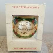 Vintage Hallmark 1979 Our First Christmas Together Glass Ball Ornament
