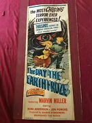 The Day The Earth Froze - Original 1959 Insert Movie Poster - Chilling Sifi