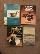 4 Book Lot Duck Decoy Making Andpainting Bird Decoys Softcover Books Duck Guides