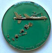 Cia Usaf Drone Merry Christmas Santa Claus Glow In The Dark Challenge Coin
