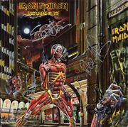 Iron Maiden Somewhere In Time Fully Signed Vinyl Lp Bruce Dickinson +4 Autograph