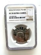 2016-w 100 Proof Platinum Eagle Commemorative Coin Ngc Pf70 Ultra Cameo