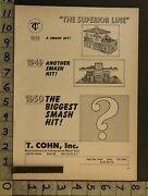 1950 Toy Ad Playset Superior Line Auto Service Sale Metal Lithograph T Cohn Tg92