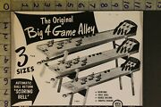 1953 Toy Ad Big 4 Game Alley Rich Industries Clinton Bowl Horse Skill Ball Ta14