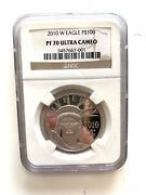 2010-w 100 Proof Platinum Eagle Commemorative Coin Ngc Pf70 Ultra Cameo