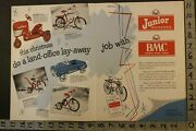 1954 Amf Pedal Car Tractor Bicycle Bmf Sky Tow Trike Cleveland 2-pg Toy Ad Tu49